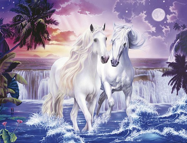 Licorne - Dessin de cheval magnifique ...