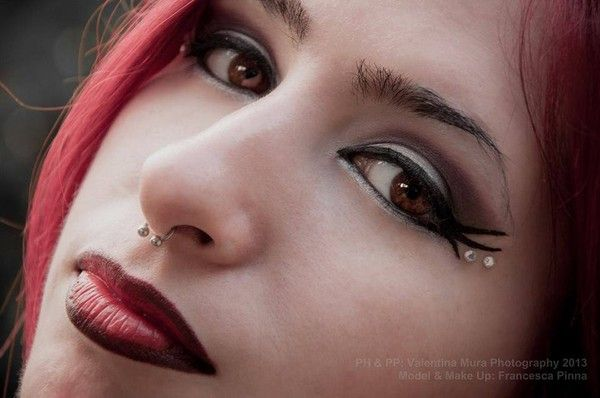 Maquillage gothique .