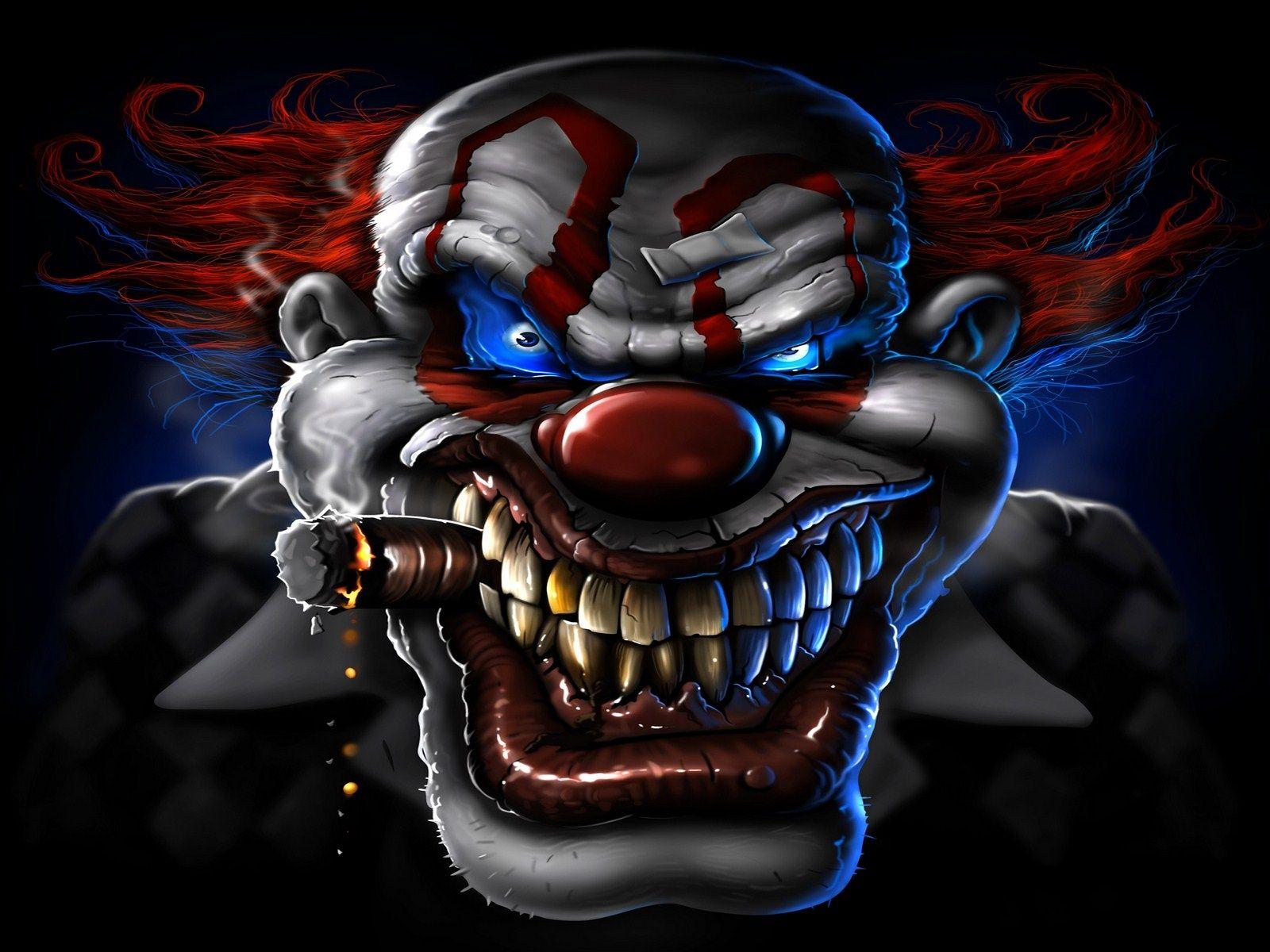 tatouage masque clown blanc