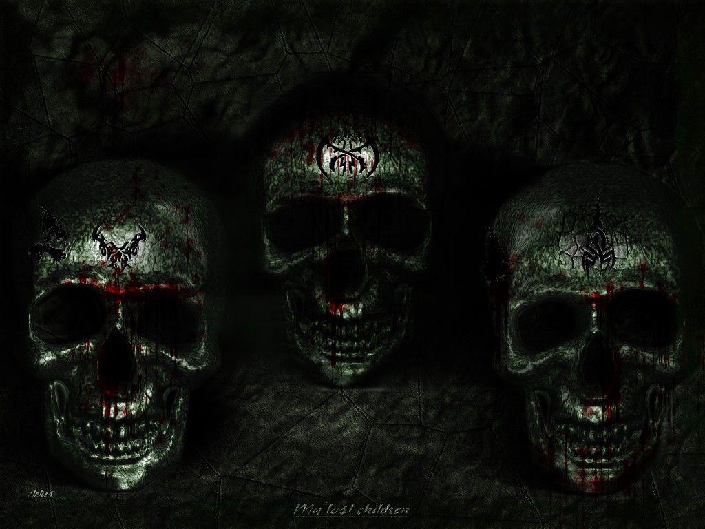 Desktop background fond d 39 cran hd tete de mort - Image de tete de mort ...