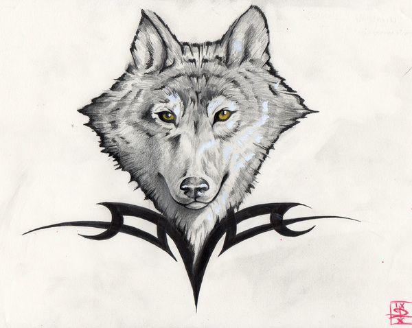 Tatouages page 6 - Modele de loup a imprimer ...